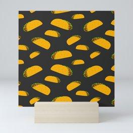 Cool and fun yummy taco pattern Mini Art Print
