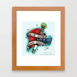 """""""All of time and space"""" Framed Art Print"""