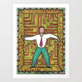 TECH TRAP Art Print