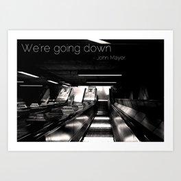 Going Down Art Print