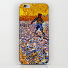 Vincent Van Gogh The Sower With Setting Sun iPhone Skin