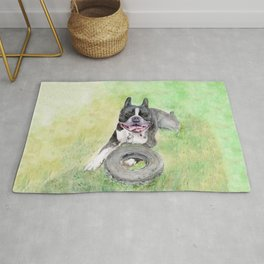 Elvis and His Tire Rug