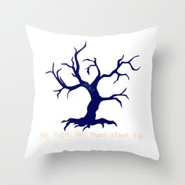 Tree of Life Dark Blue Throw Pillow