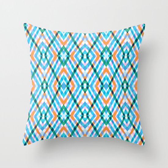 The rustic link based on tenun ikat Throw Pillow
