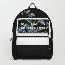 Harry Styles Meet me in the hallway graphic design artwork Backpack