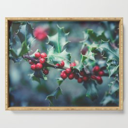 Holly Serving Tray