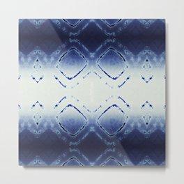 Tie-Dye Dia Blue Metal Print