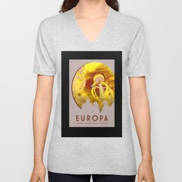 Europa - NASA Space Travel Poster (Alternative) Unisex V-Neck