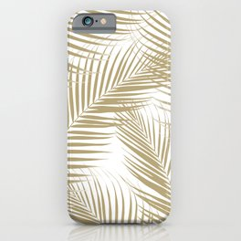 Palm Leaves - Gold Cali Vibes #1 #tropical #decor #art #society6 iPhone Case