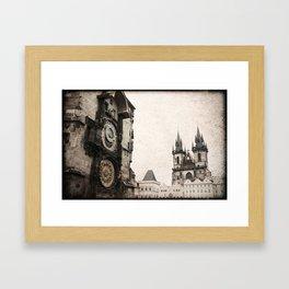 Prague, vintage foto Framed Art Print