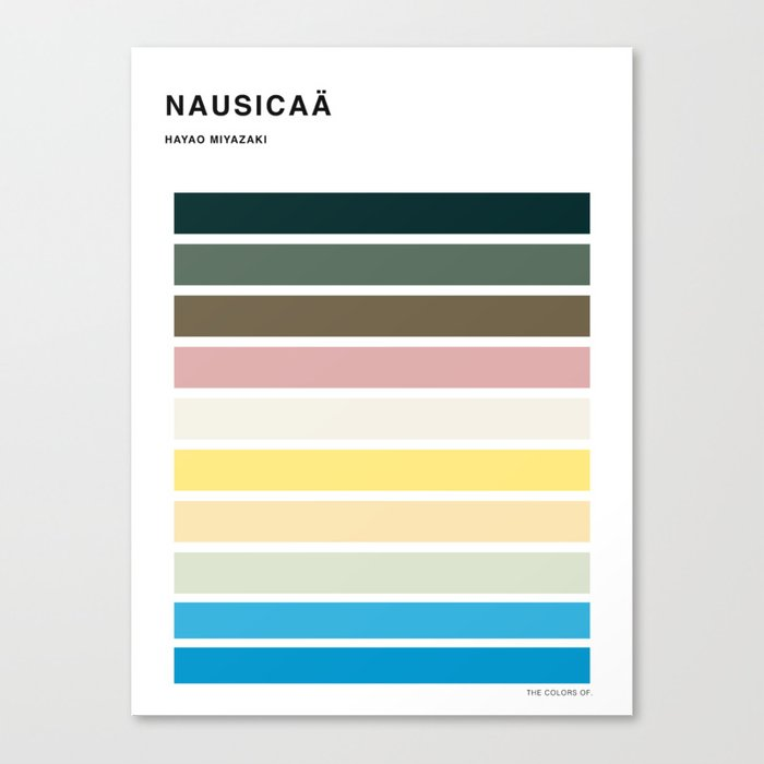 The colors of - Nausicaa Canvas Print