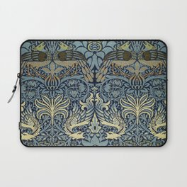 Woven woollen fabric Peacock and Dragon by William Morris Laptop Sleeve