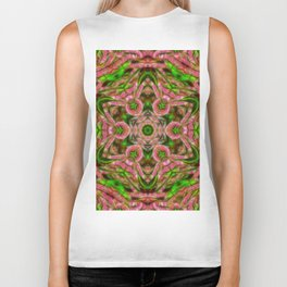 Vibrant surreal wattle kaleidoscope Biker Tank