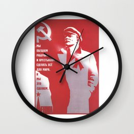 Russia, URSS Vintage Poster (8) Wall Clock
