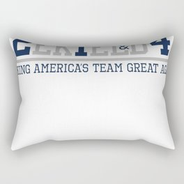 Making America's Team Great Again (Blue Numbers) Rectangular Pillow