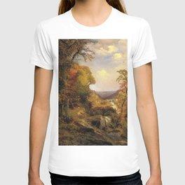On The Wissahickon Near Chestnut Hill 1870 By Thomas Moran | Philadelphia Scenic Reproduction T-shirt
