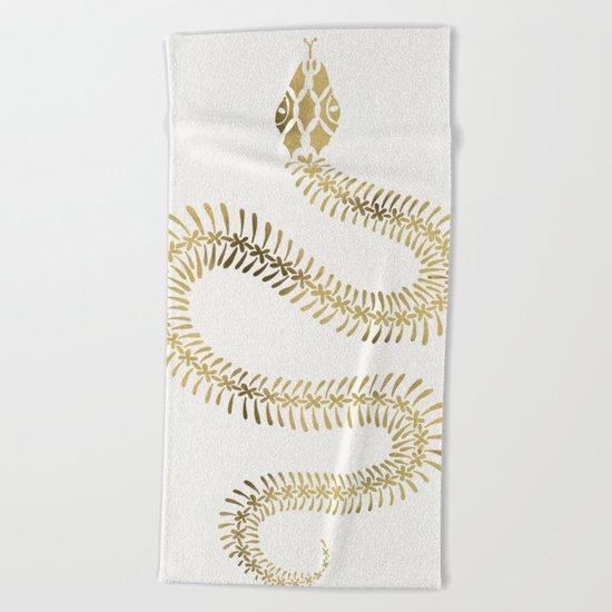 Snake Skeleton – Gold Beach Towel