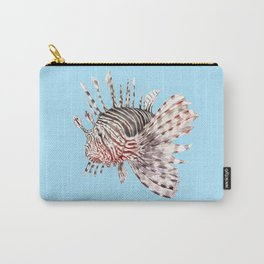 Watercolor Lionfish Tropical Fish Marine Life Painting Carry-All Pouch