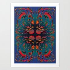Stone spirals Art Print