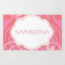 Island Wave Pink - Personalized Samantha Rug