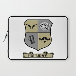 Doc Holliday Coat of Arms Laptop Sleeve