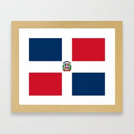 Flag of the dominican republic Framed Art Print