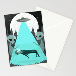 ufo alien abduction Stationery Cards
