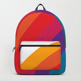 Retro Bright Rainbow - Left Side Backpack