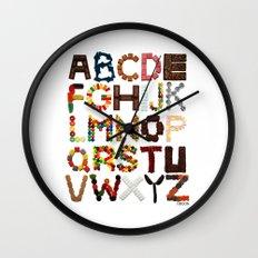 Candy Alphabet Wall Clock
