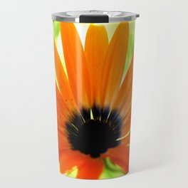 Solar orange daisy flower Travel Mug