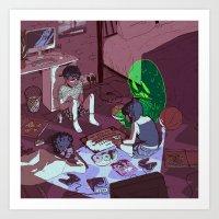 ouija Art Prints featuring Ouija by dqhantom