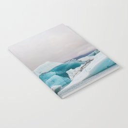 Iceberg in the glacial lagoon in Iceland - landscape photography Notebook