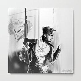 Killonger x Malcom X Metal Print