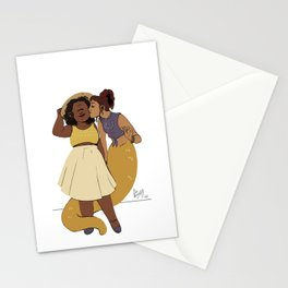 LN summer: Pam and Radha Stationery Cards