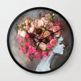 Flower Bloom Girl Wall Clock