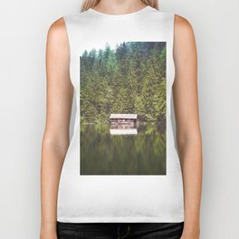 Cottage in the Forest (Color) Biker Tank