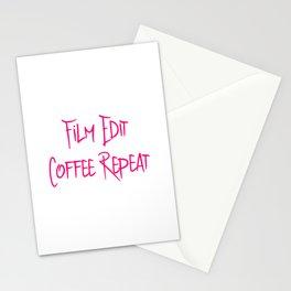Film Edit Coffee Fun Film School Quote Stationery Cards