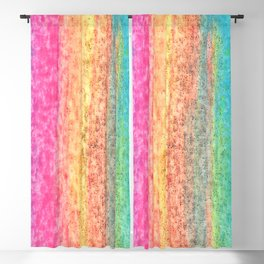 Cotton Candy Land Rainbow Paint Texture Blackout Curtain