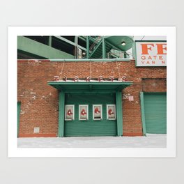 Fenway Park in the Off Season, Boston Art Print