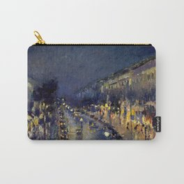 Camille Pissarro - Boulevard Montmartre at Night Carry-All Pouch