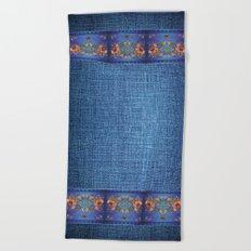 Denim Designs Jacobean Border Beach Towel