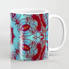 mandala 6 blue red #mandala Coffee Mug