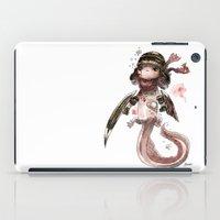 bouletcorp iPad Cases featuring Axolotl Barbare by Bouletcorp