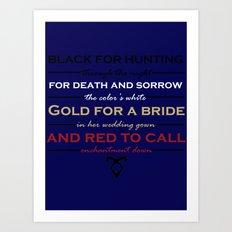 Shadowhunter Nursery Rhyme Art Print