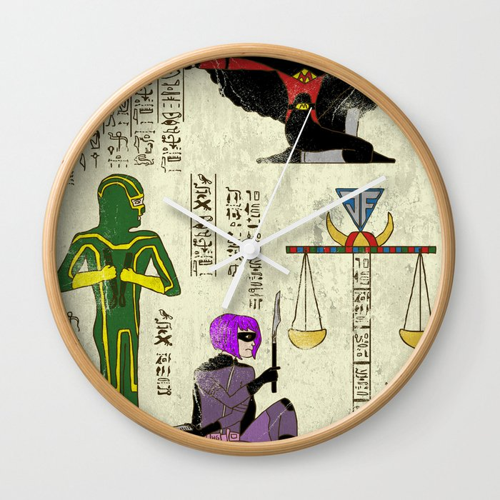 Hero-Glyphics: Kick Ass Wall Clock