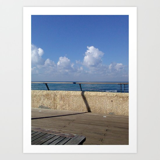 Day at the port Art Print