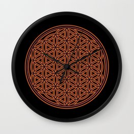 Sacred Geometry Fire Wall Clock