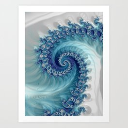 Sound of Seashell - Fractal Art Art Print
