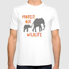 Protect Our Wildlife Mens Fitted Tee White SMALL