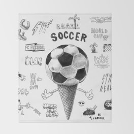 Soccer Worldcup 2014 Throw Blanket